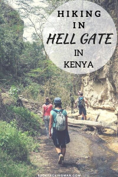 hiking hell gate national park in kenya