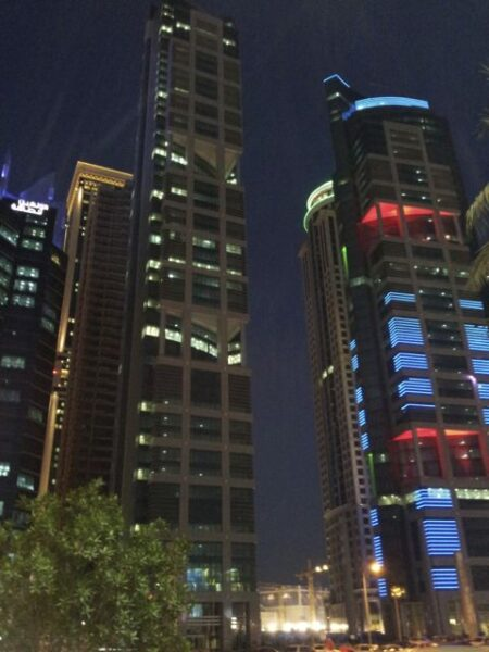 Skyscrapers in Doha in Qatar.