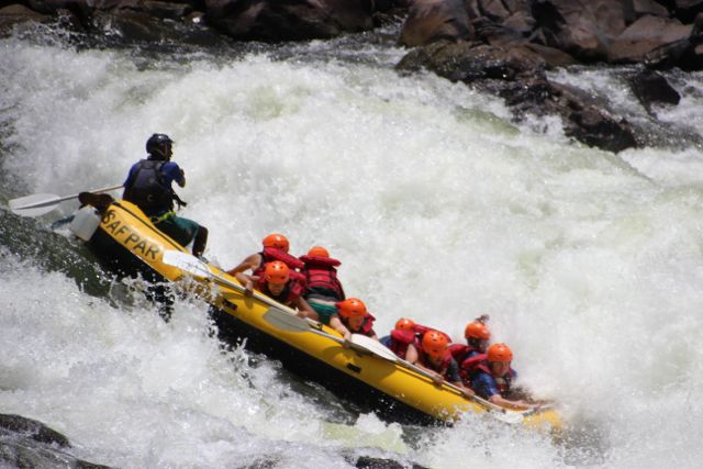 White Water Rafting At Victoria Falls