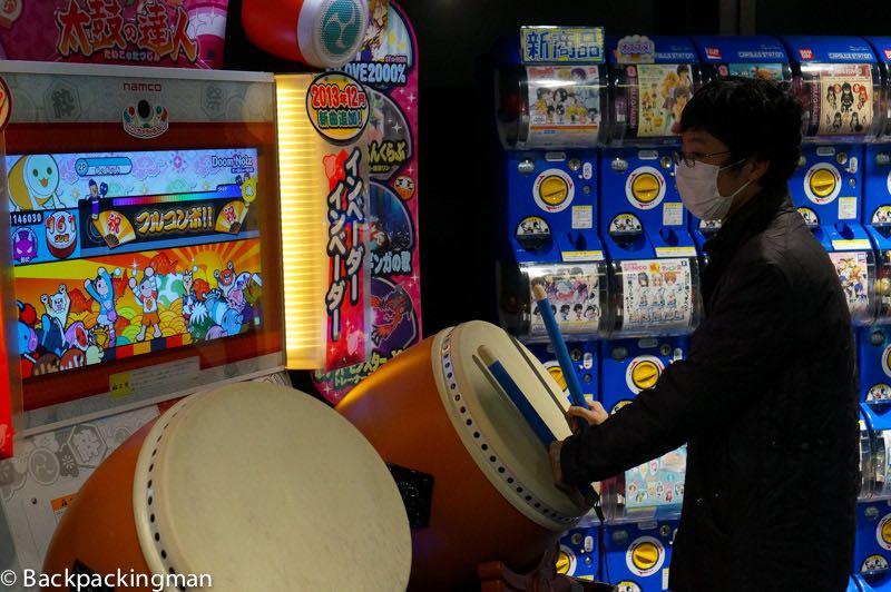 Gaming in Akihabara in Tokyo