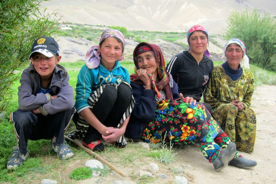 Family in Wakhan Valley