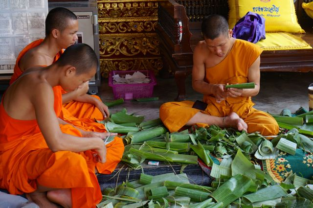 Buddhist monks in Chiang Mai