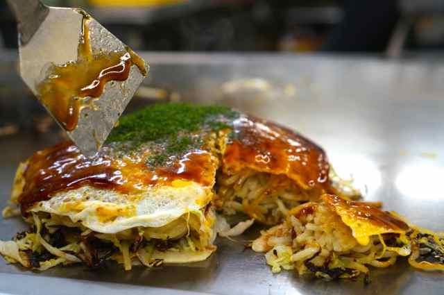 Eating the Japanese Soul Food of Okonomiyaki in Hiroshima