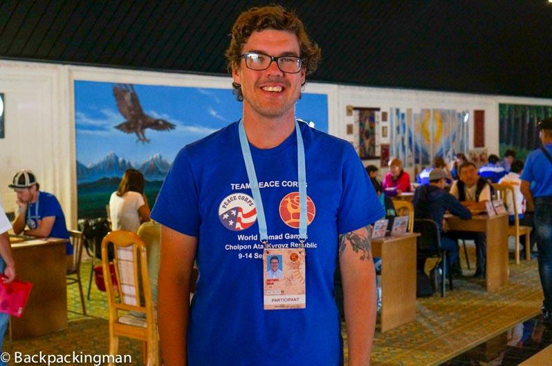 Peace Corps volunteer Gus Hulin