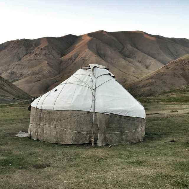 Yurt in mountains of Kyrgyzstan.