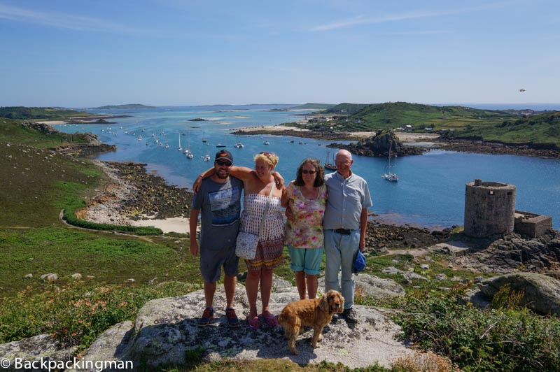 Family on Isles of scilly