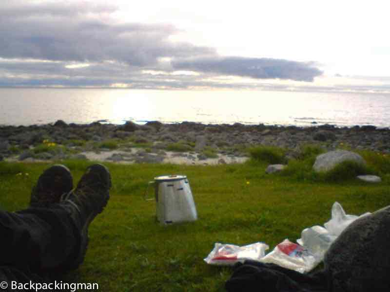 Camping on Lofoten islands.
