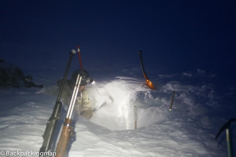 Ice caving in Svalbard.