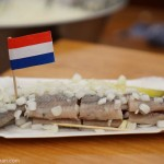 Eating Raw Herring in Amsterdam