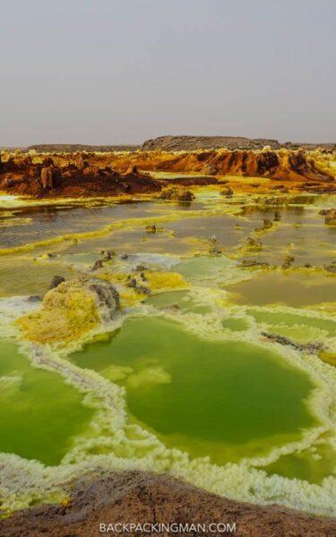 volcano in danakil depression ethiopia