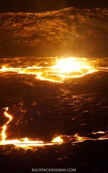 volcano in danakil depression