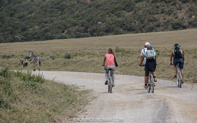 cycling hells gate national park in kenya