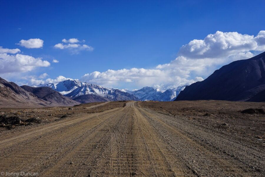 Pamir Highway in Tajikistan.
