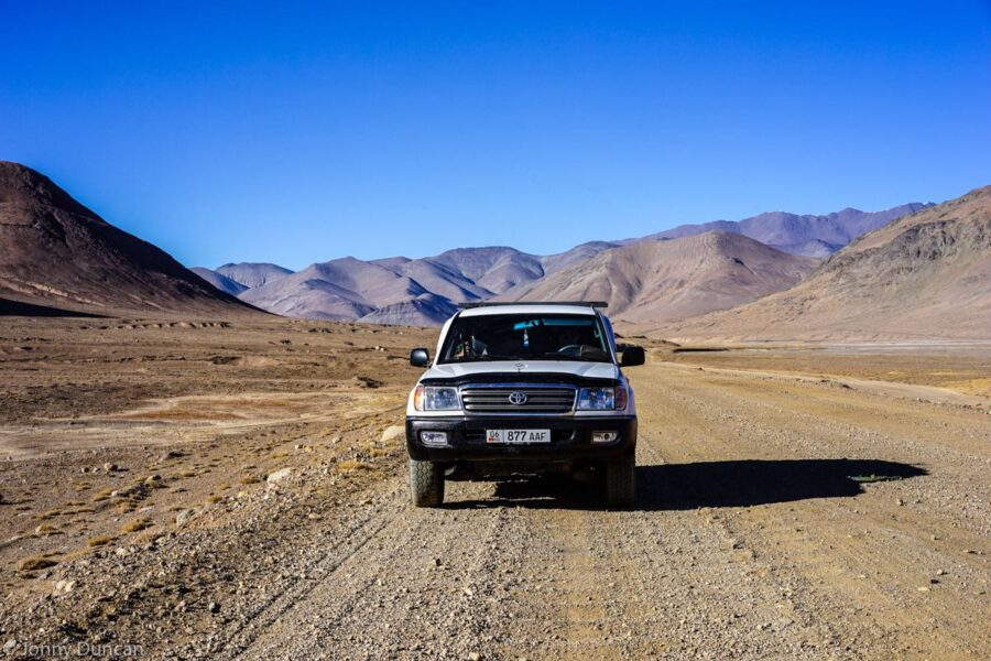 Private 4wd on the Pamir Highway.