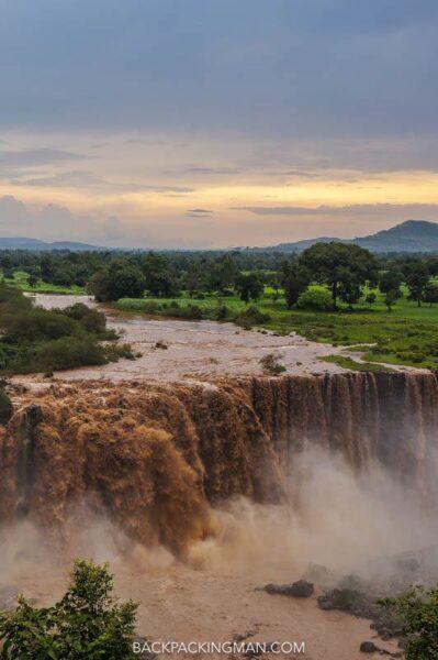 the blue nile falls in ethiopia