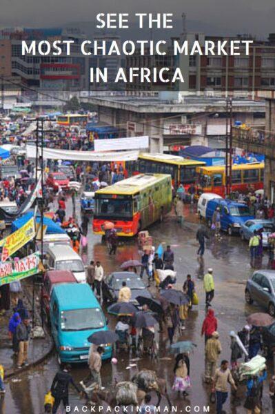 Chaotic Merkato Market In Addis Ababa