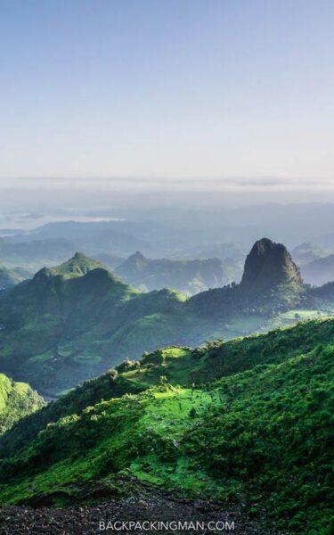 hiking simien mountains