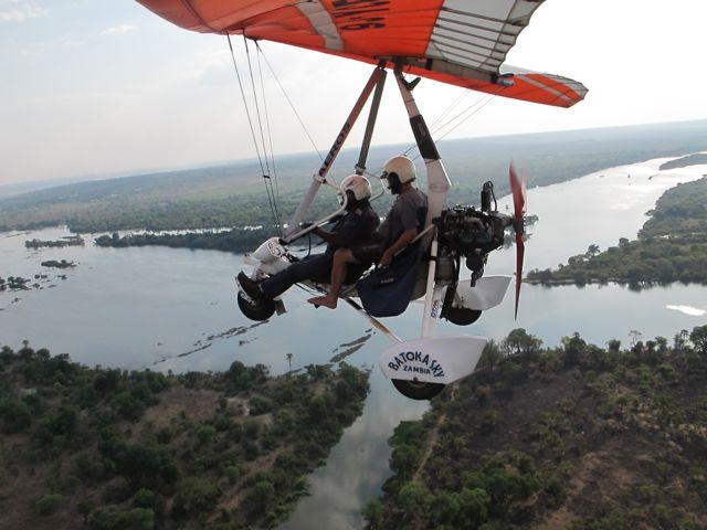 Following the Zambezi river to Victoria Falls.