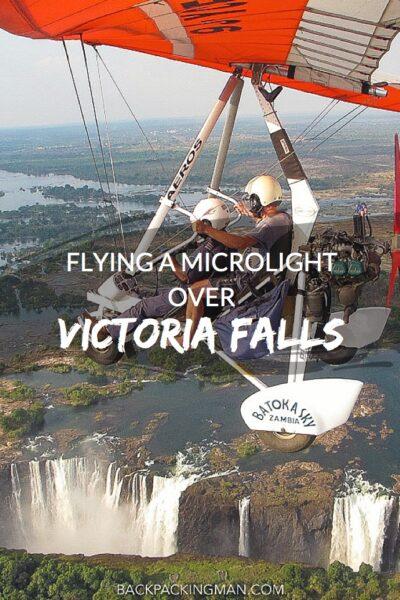 microlight victorian falls