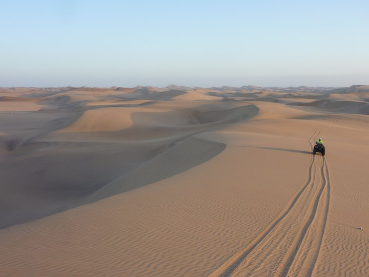 Quad Biking Dunes In Namibia
