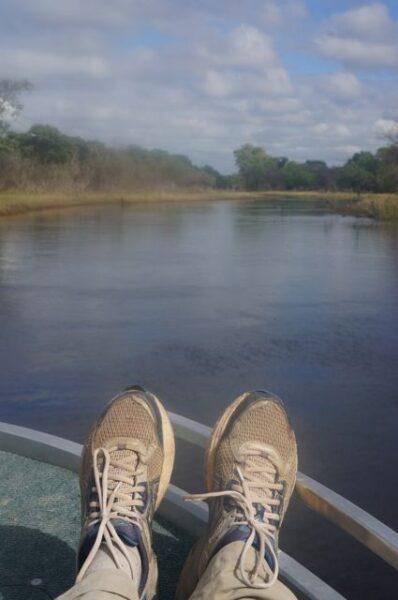 Cruising on the speedboat.