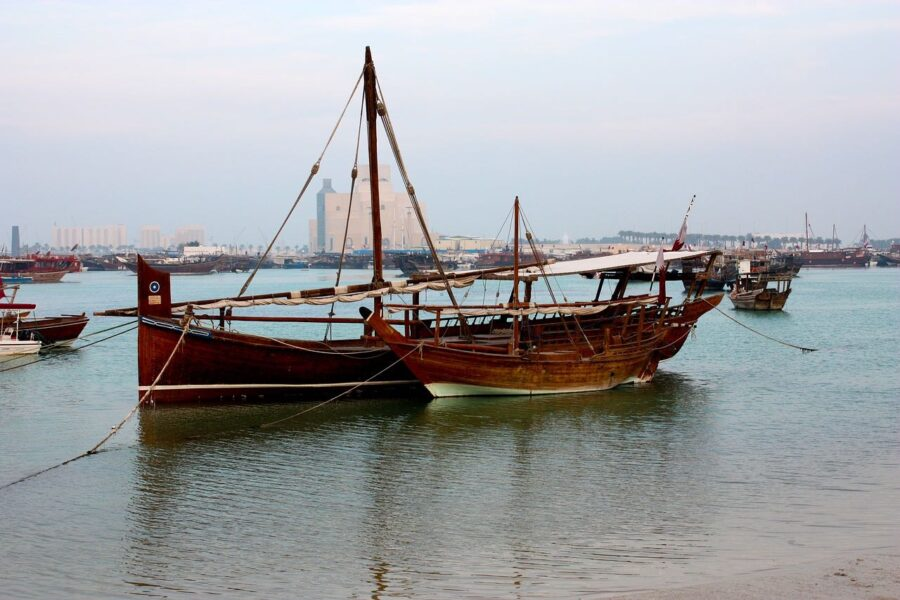 Dhow boats in Doha / Doha in a day