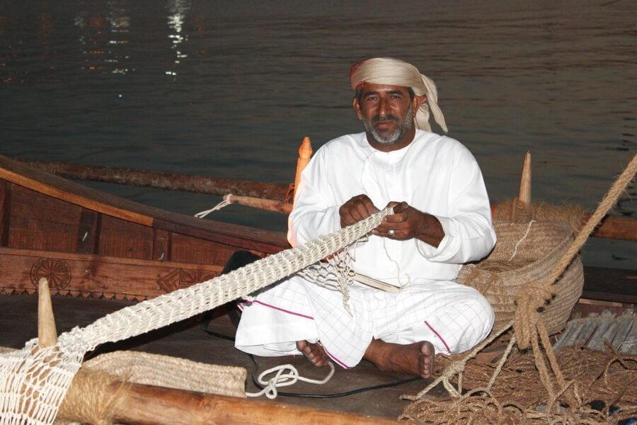 Fisherman in Doha