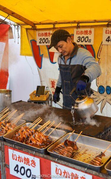 japanese food in nara festival in japan