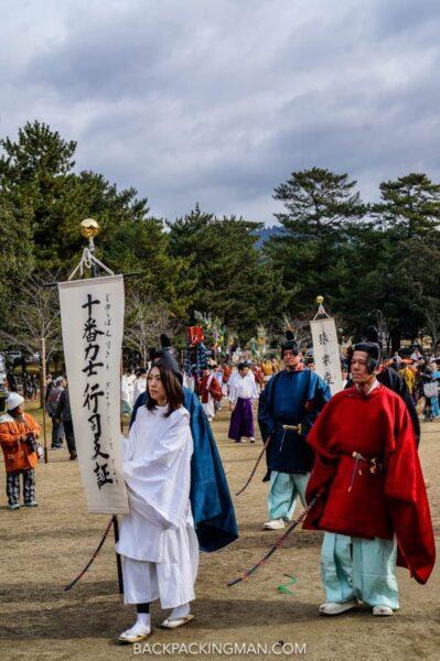 festival in nara in japan