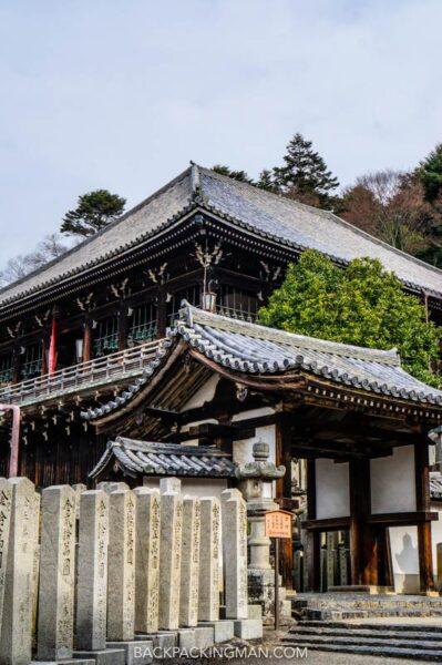 temple in nara in japan