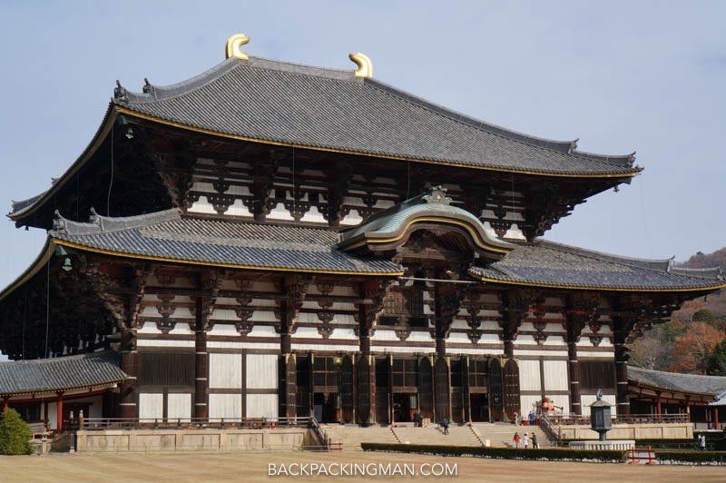 todai -ji temple in nara in japan