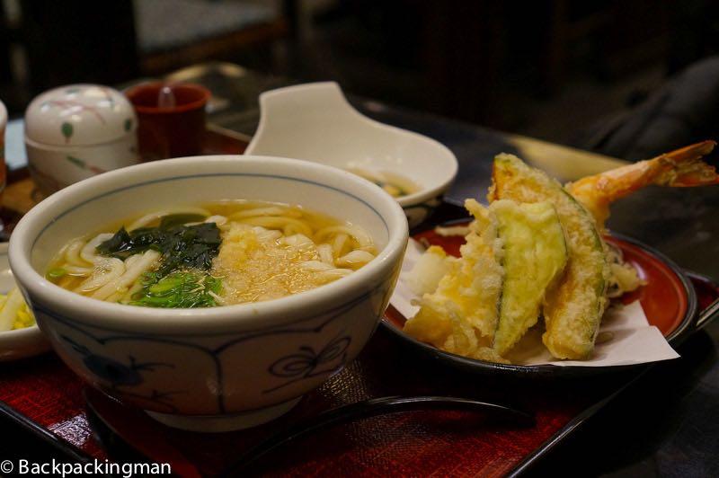 Udon noodles in Matsuyama.