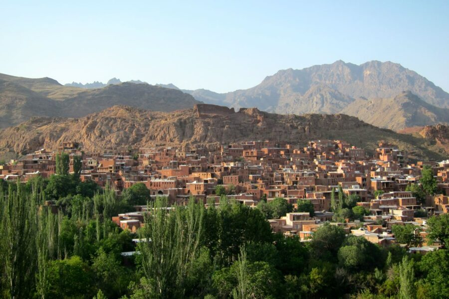 Mountain village in Iran backpacking in Iran