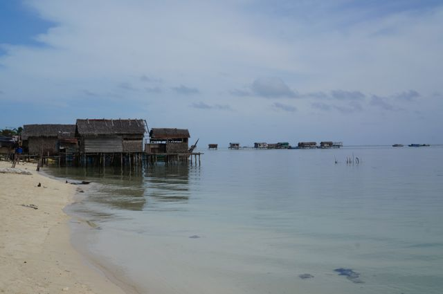 Sea gypsy village