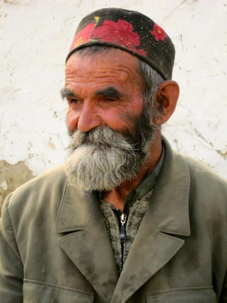 Old Tajikistan man in Wakhan Valley.