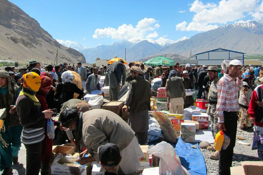 Border market Wakhan Valley