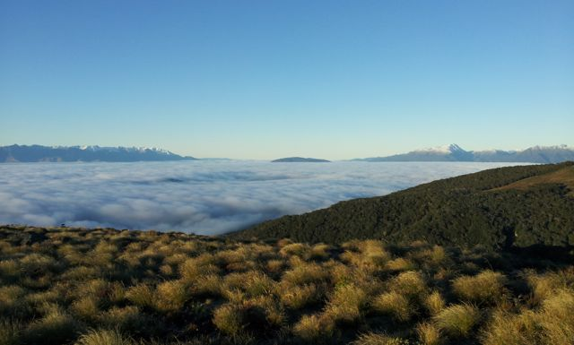 clouds over lake te anau