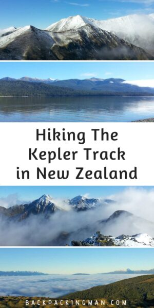 New Zealand hiking Kepler track