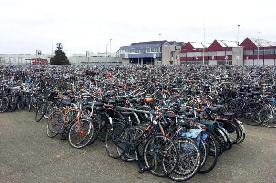 Bicycle depot Amsterdam.