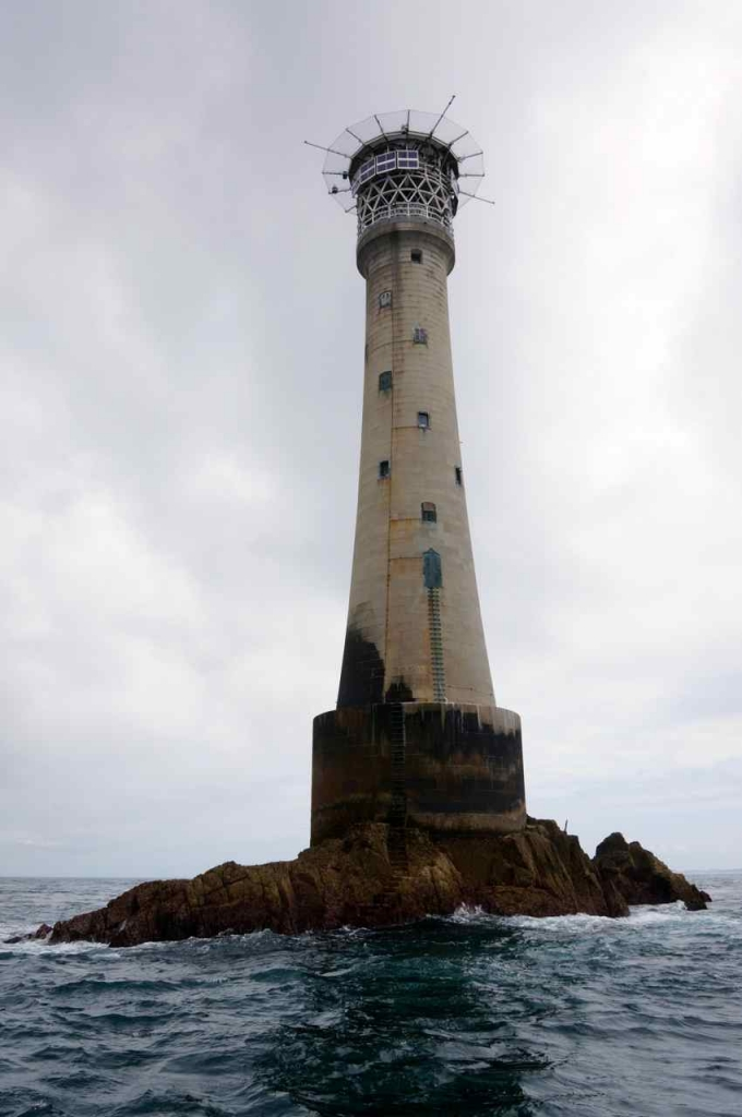 Bishop rock lighthouse on Isles of scilly