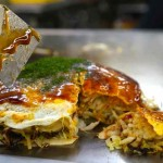 Eating the Japanese Soul Food of Okonomiyaki in Hiroshima