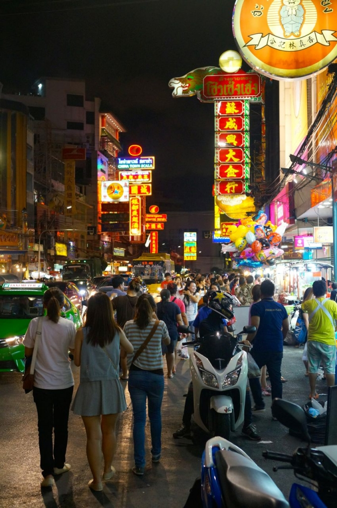 Bangkok Chinatown at night.
