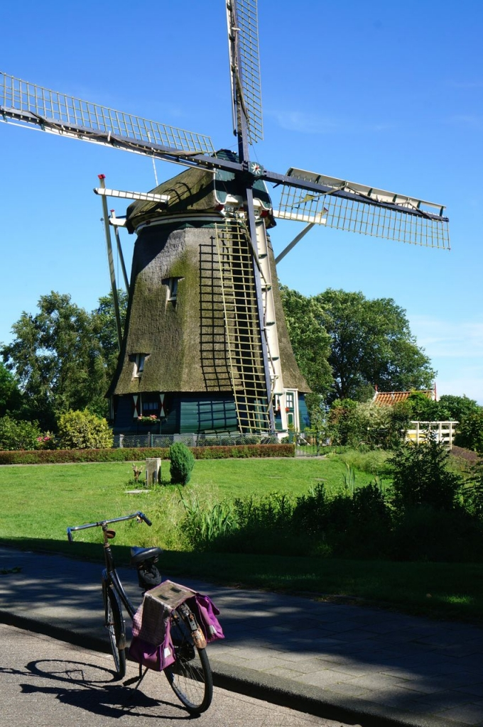Traditional windmill in Amsterdam.