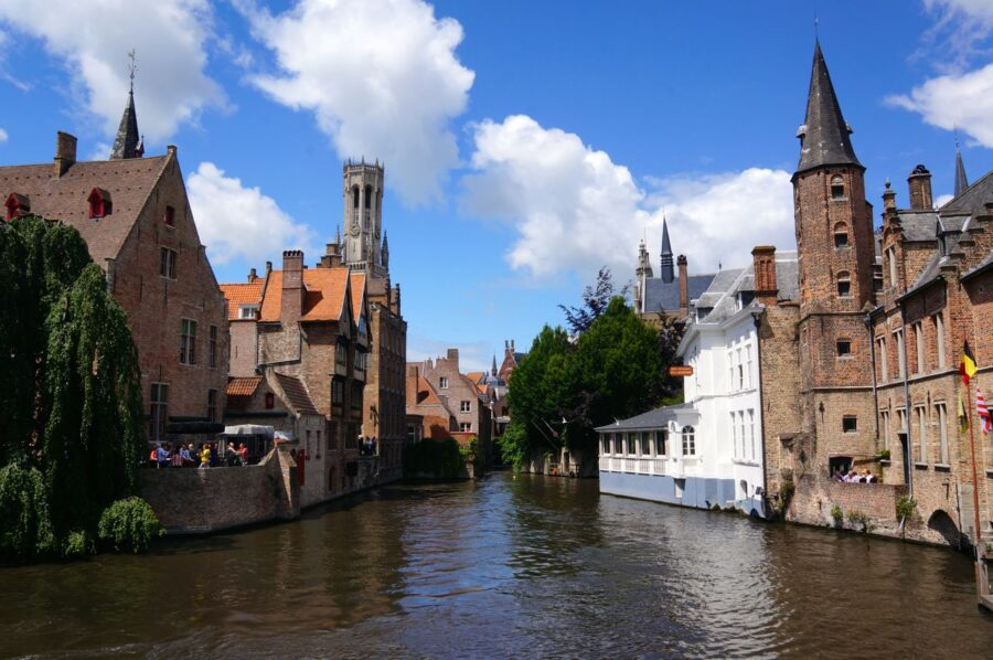 Brugge city on a Belgium road trip from Netherlands to Belgium