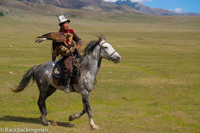 Eagle hunter at World Nomad Games