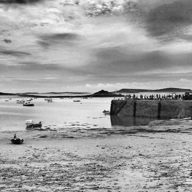 Tresco Island at low tide on the Isles of Scilly