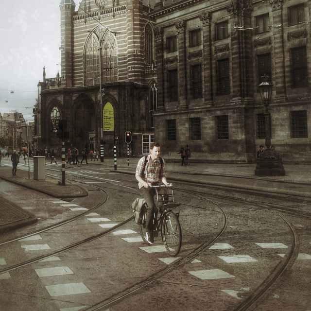 Cyclist in Amsterdam.
