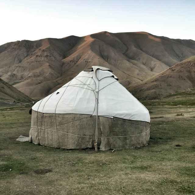 Yurt in mountains of Kyrgyzstan.