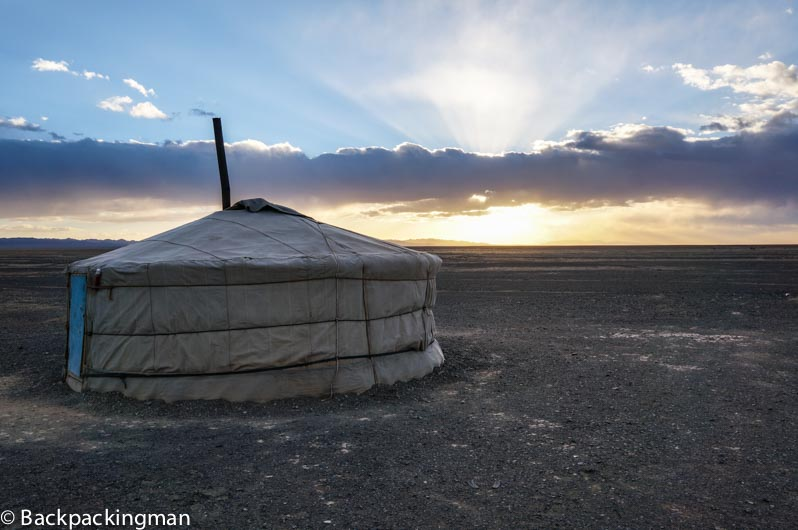 Into The Gobi Desert In Mongolia