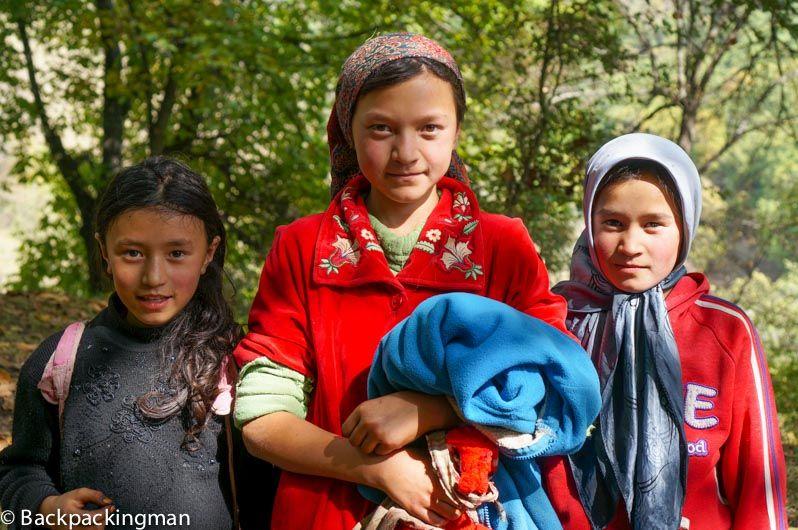 Girls in Arslanbob